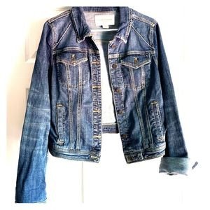 Pilcro and the letterpress blue jean denim jacket